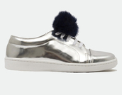 shoes,silver shoes,silver sneakers,metallic shoes,low top sneakers