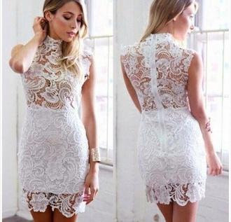 dress white lace dress summer dress white dress