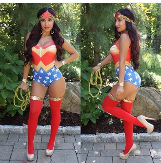 jumpsuit one piece ||superwoman|| halloween costume sexy costume fall outfits halloween superman