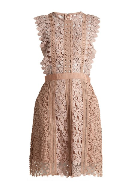 self-portrait dress mini dress mini daisy lace nude