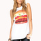 Fun hamburger muscle tee | forever21 - 2039516802