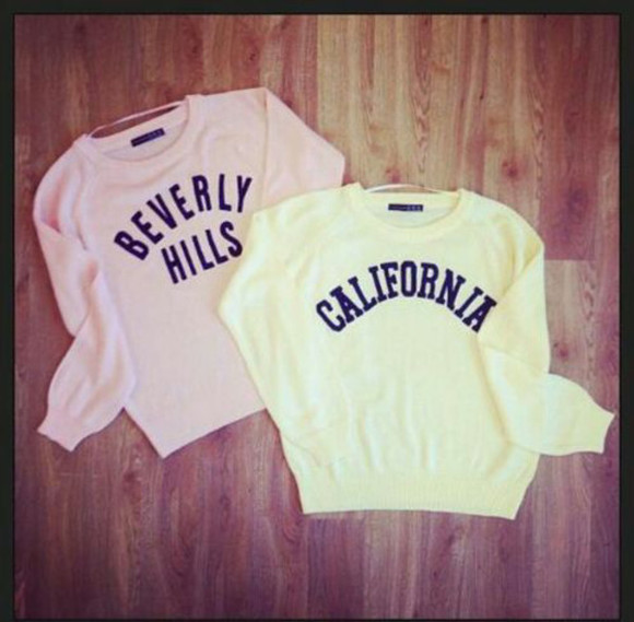 beverly hills california sweater fashion