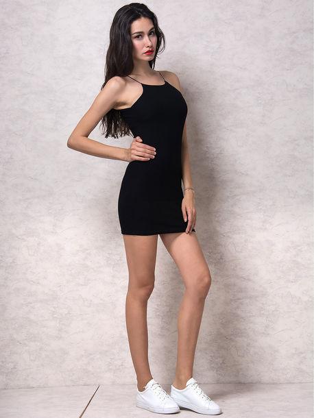 cc1aec5fac dress chiclook closet summer style black black dress mini dress bodycon  dress casual instagram black drss