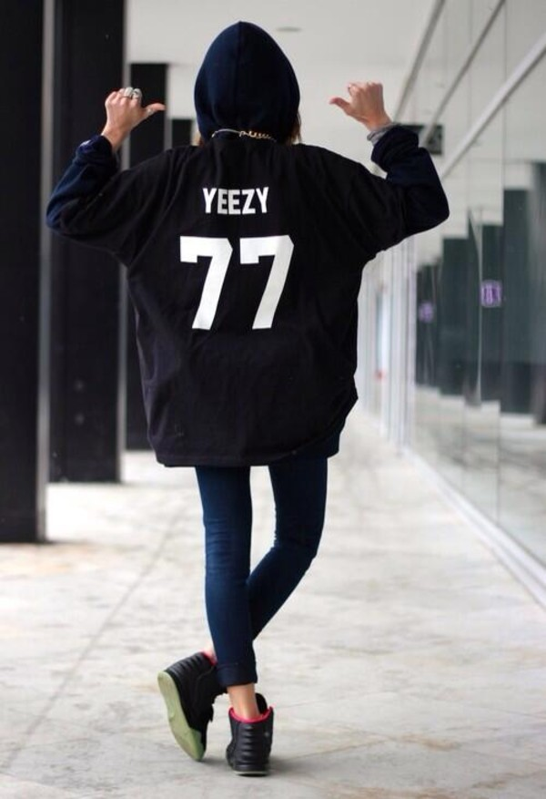 jacket yeezy 77 sweater black tumblr shoes jeezy hoodie sweatshirt shirt yeezus coat hot fashion dope black hoodie yeezy yezzus withe swag this pullover
