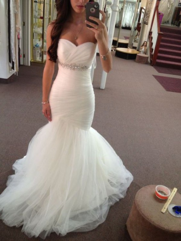 Cheap 2016 backless wedding dresses strapless sexy mermaid for Wedding dresses for tall plus size