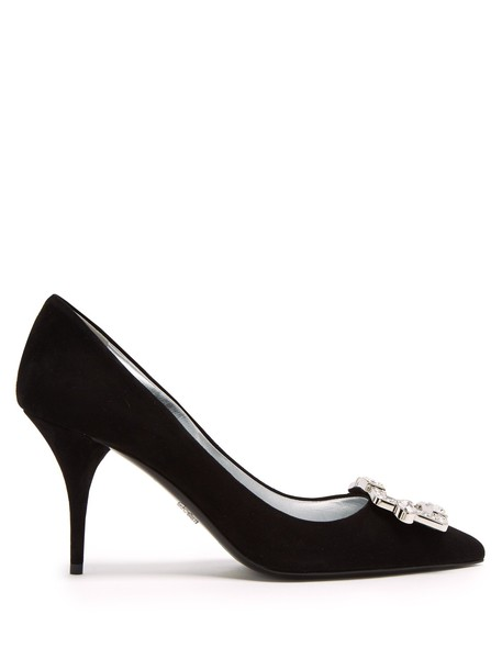 Prada suede pumps pumps suede black shoes