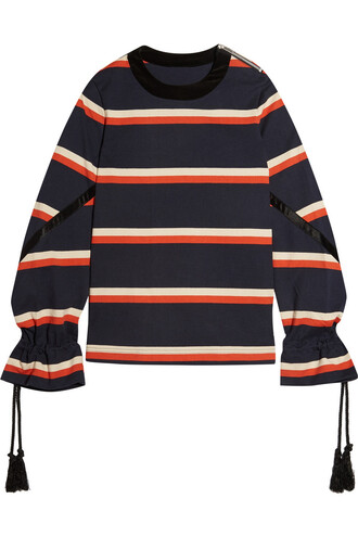 sweatshirt cotton navy sweater