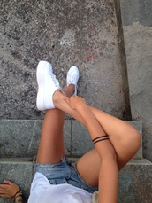 white,shoes,white shoes,sneakers,platform shoes