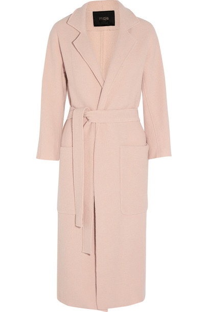 Pale Pink Wool Coat - Coat Racks
