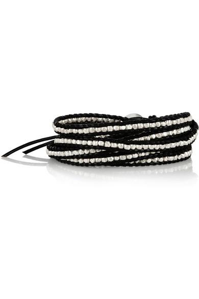 Chan Luu|Leather and silver five wrap bracelet|NET-A-PORTER.COM