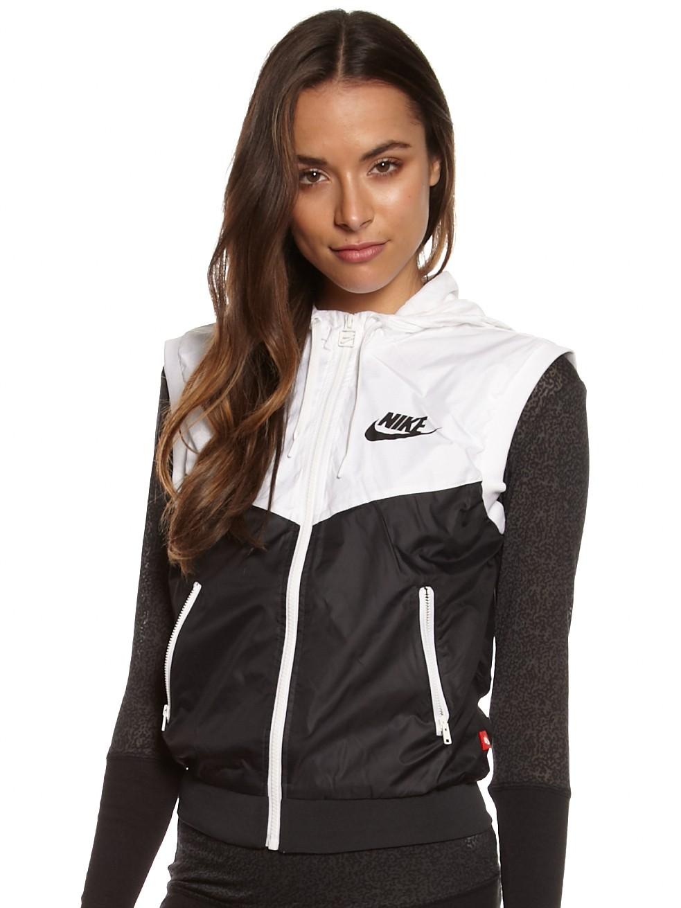 Nike Veste Windrunner Des Femmes De Chemise Blanche