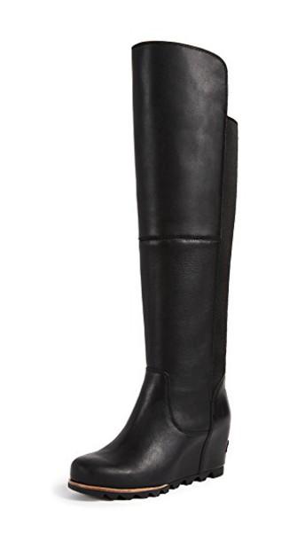 Sorel dark black grey shoes