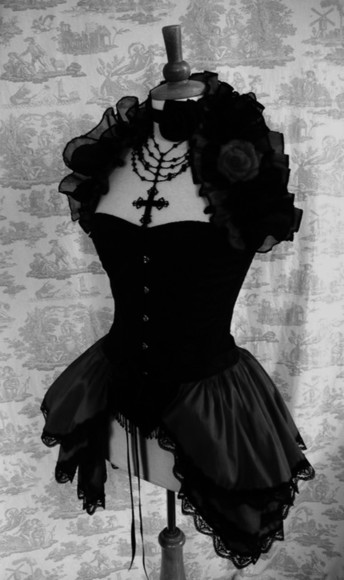 dress black queen goth floral