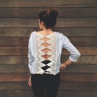 backless top blouse jumper