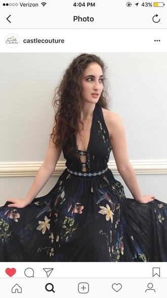 dress jovani floral prom dress prom prom gown black dress black flowers