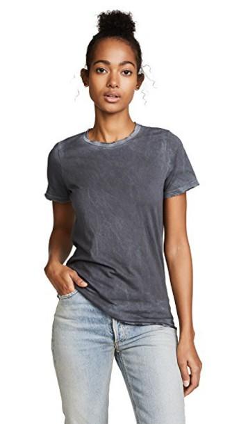 Cotton Citizen classic vintage light grey top