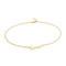 Jennifer zeuner jewelry love anklet - gold