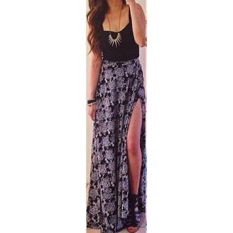 dress black dress maxi dress black skirt black floral dress floral dress chic otd