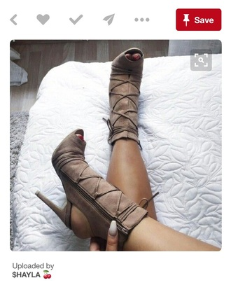 shoes brown nude heels