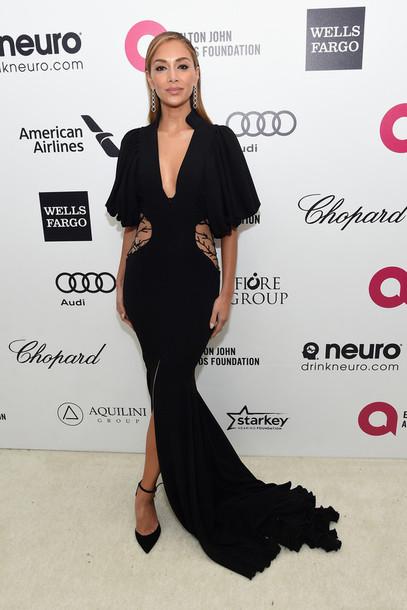 dress gown black nicole scherzinger