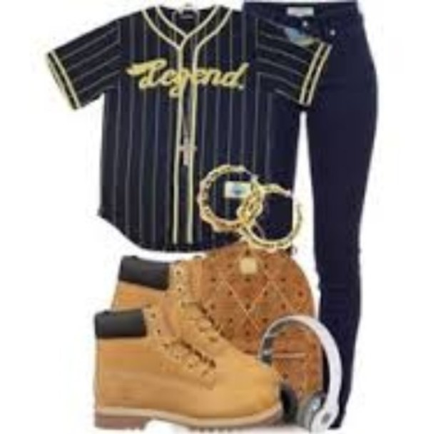 bag dope jacket school pants jersey cute swag on point pants timberlands earrings backpack headphones beats by dr dre navy gold jeans dope wishlist top baseball jersey shirt baseball navy yellow