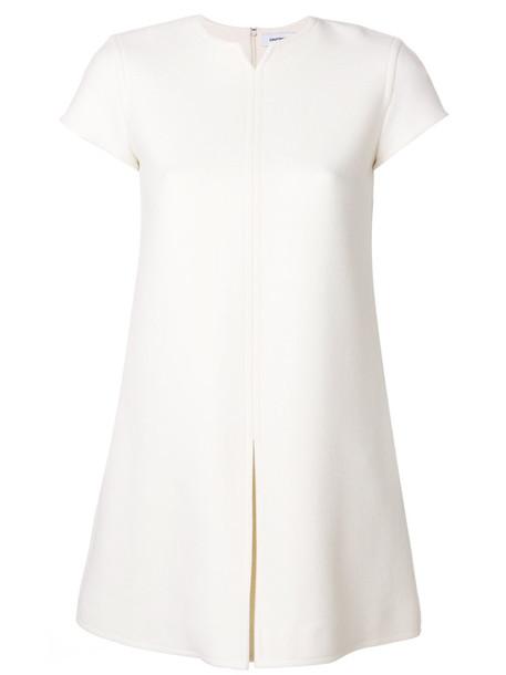 COURRÈGES dress shift dress women spandex white wool