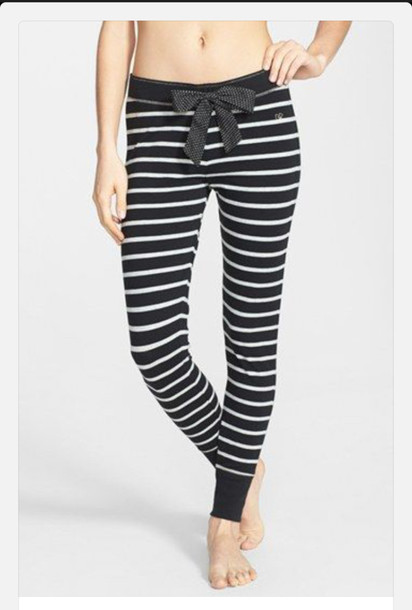 jeans pj pants bows stripes comfy pants lazy day