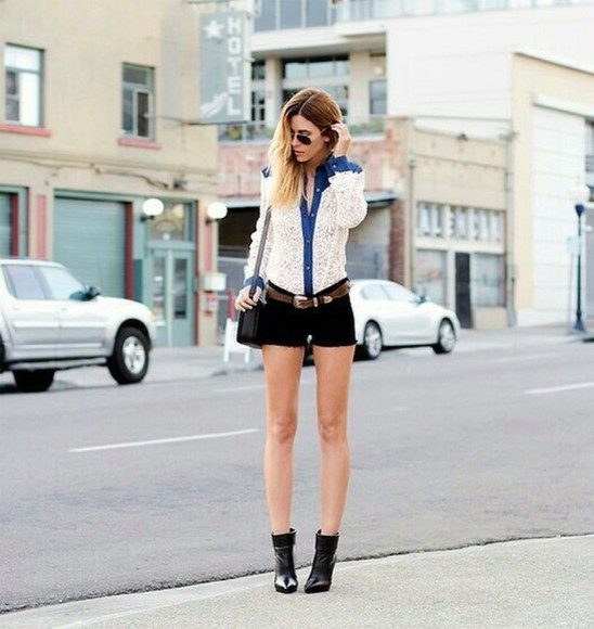long sleeve shirt lace white lace shirt denim