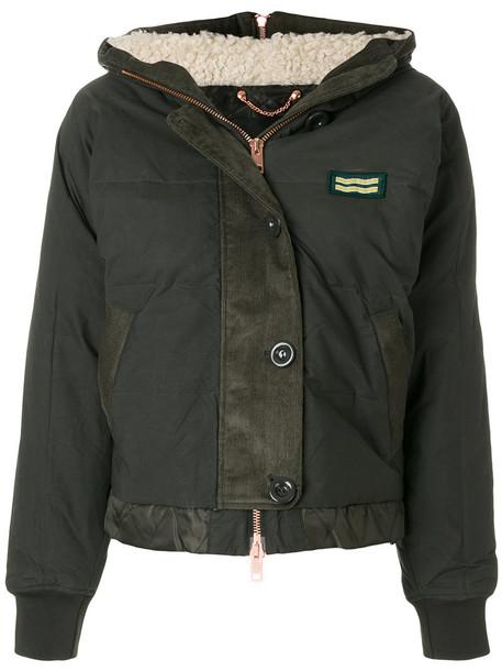 Diesel jacket hooded jacket women cotton green