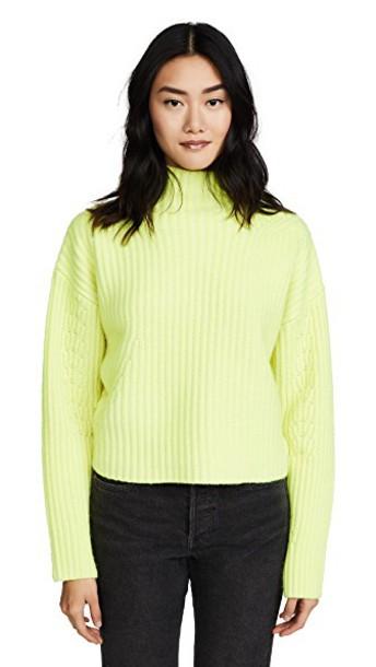 Diane Von Furstenberg sweater long yellow