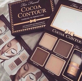 make-up contour chocolate contouring