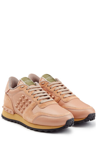 suede sneakers sneakers leather suede rose shoes
