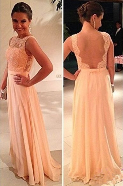 dress evening dress lace dress backless dress bridesmaid