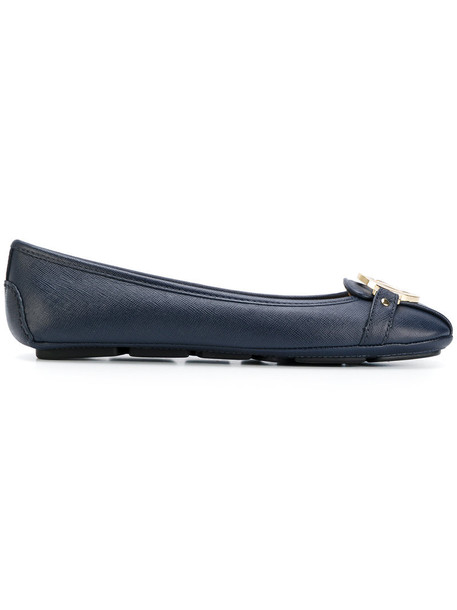 MICHAEL Michael Kors women flats leather blue shoes