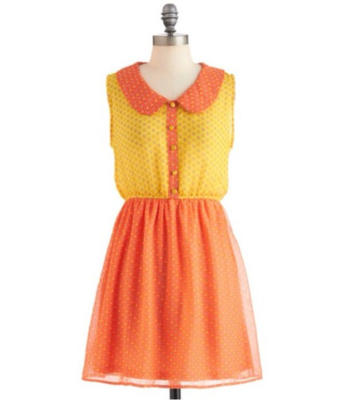 collar peter pan collar dress cute dress orange dress yellow dress peter pan collar dress