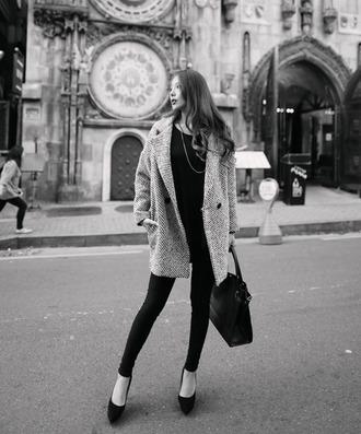 grey coat winter outfits classic winter coat button blazer