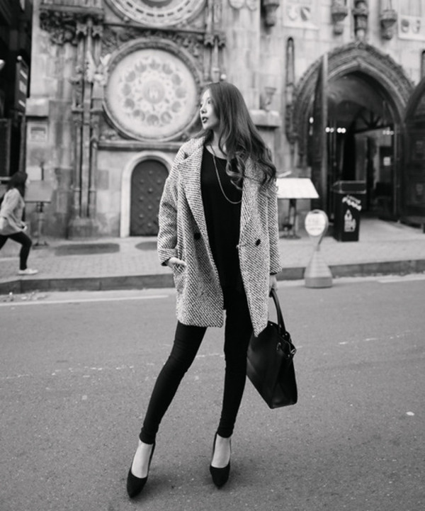 coat grey classic button winter outfits winter coat blazer