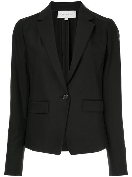 Ck Calvin Klein jacket women spandex black wool