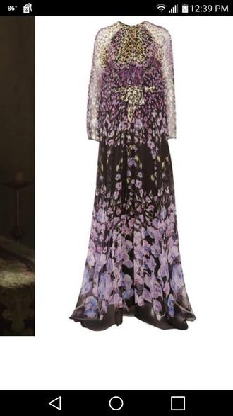dress animal print floral animal print dress floral dress gown floral gown purple dress purple purple gown purple floral print