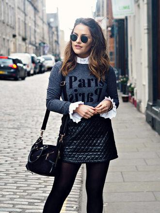 the little magpie blogger sweater t-shirt shirt skirt