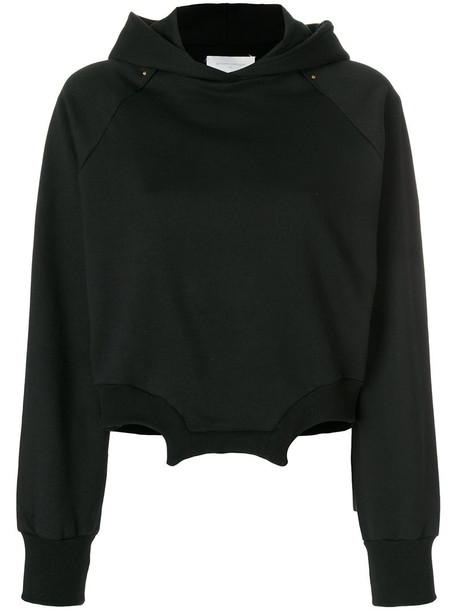 Esteban Cortazar hoodie women cotton black sweater