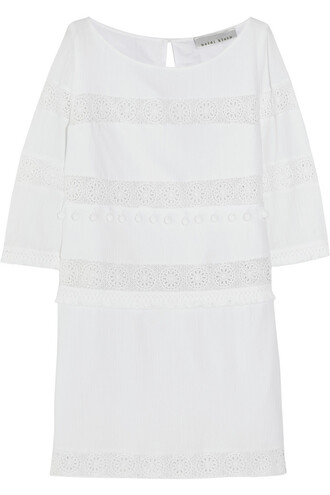 dress mini dress mini cotton crochet white