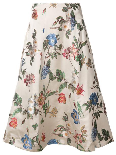 Alice+Olivia skirt women floral nude print