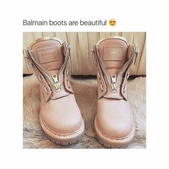 shoes balmain boots paris rose pink