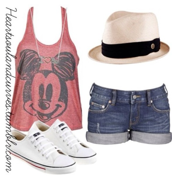 tank top hat top hair accessory shorts