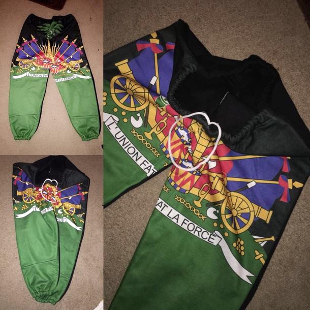 Pants Haitian Culture Haitian Flag Sweatpants Haiti Cultural