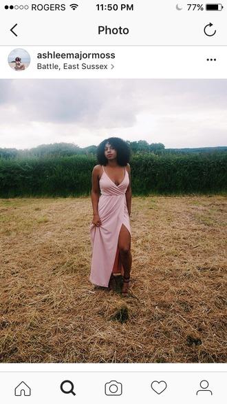 dress asos pink dress maxi dress