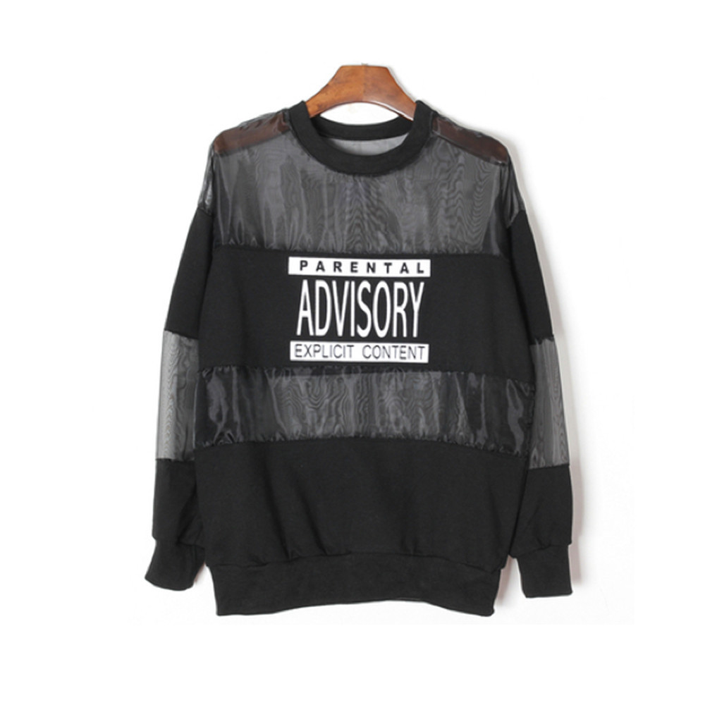 Parental advisory mesh sweater / back order – holypink