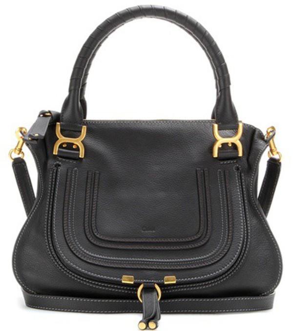Chloé Marcie Medium Leather Shoulder Bag in black