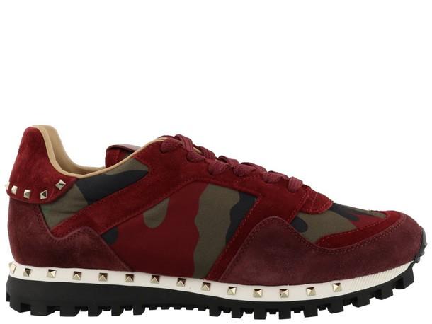 Valentino Garavani studded red shoes